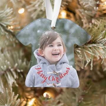 Create Your Own Baby Shirt Acrylic Holiday Christmas Photo Ornament
