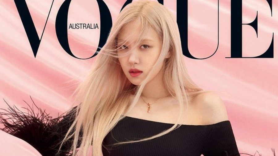 BLACKPINK's Rose Looks Glamor in Luxury Dress on The Cover VOGUE Magazine April Edition