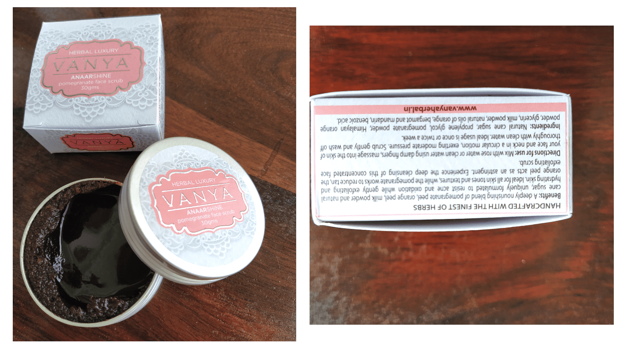 Vanya pomegranate scrub for face