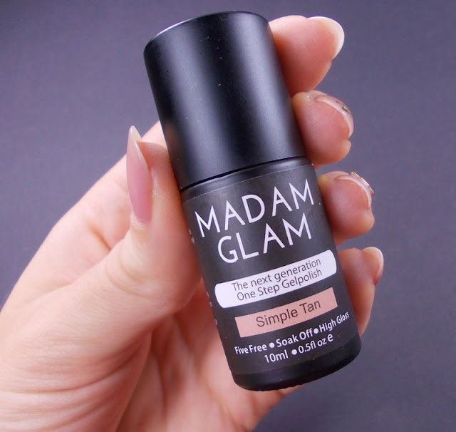 madam glam simple tan gel polish