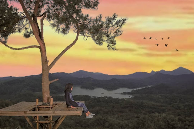 Keindahan Sunset Kali Biru Jogja