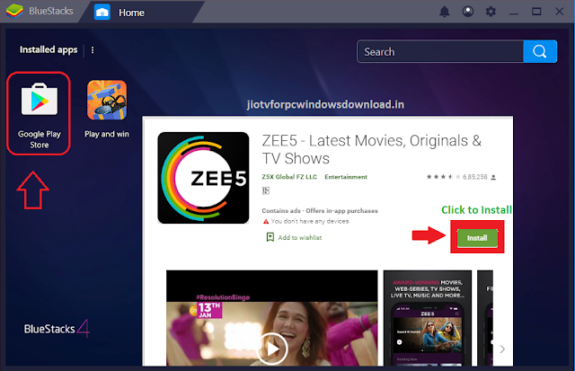 zee5 app for pc windows