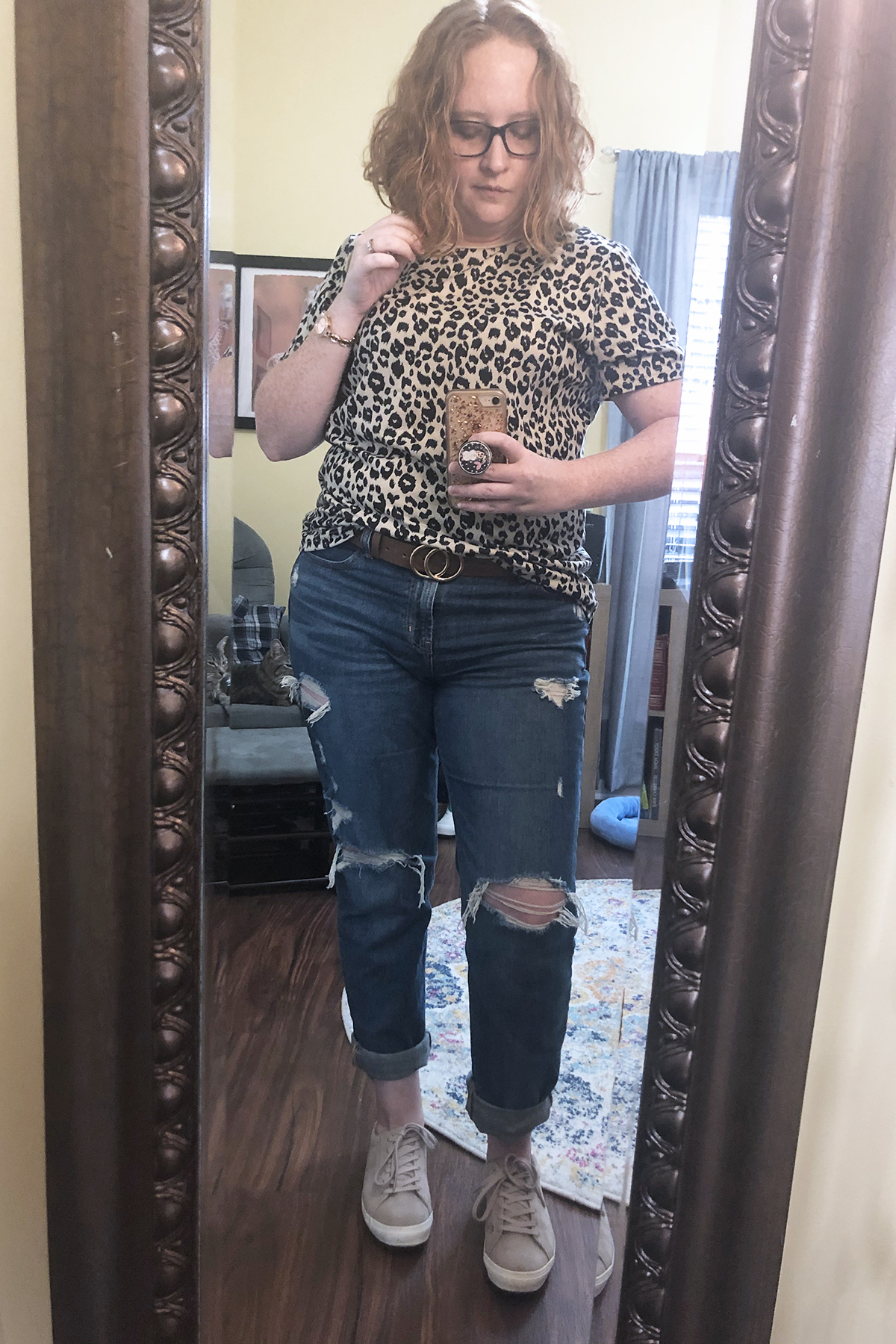 leopard tshirt bf jeans