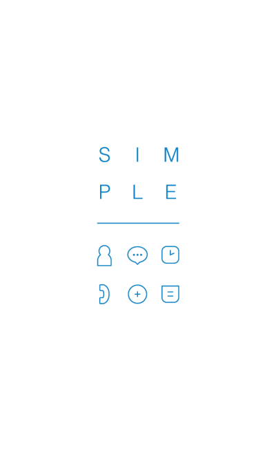 SIMPLE / white-blue.