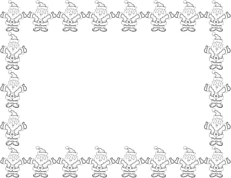 Imagenes de marcos navidenos para imprimir