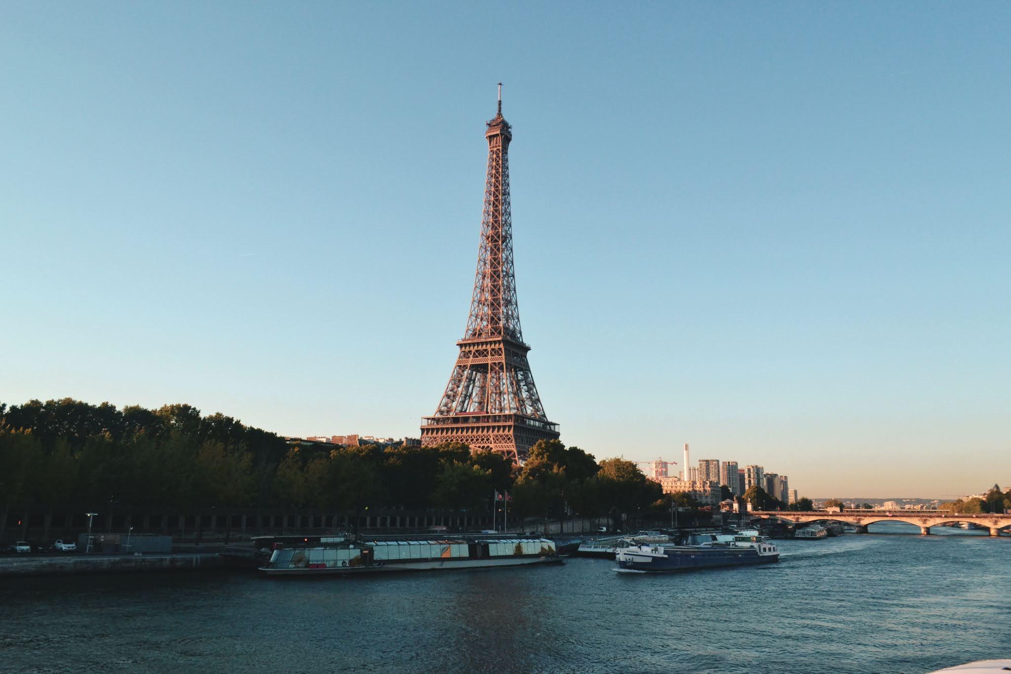 Panoramic View Of Beautiful Eiffel Tower
