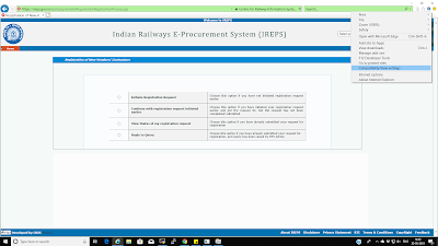 03 New Vendors Contractors Registration page not showing the 'Proceed' button