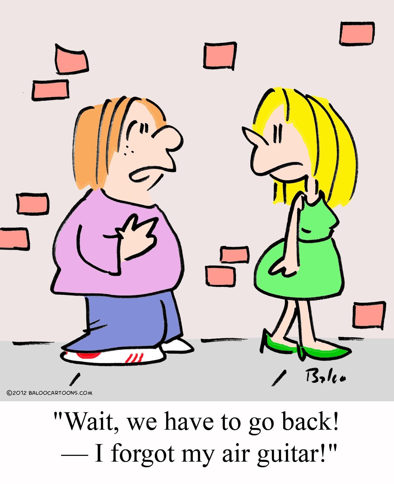 Baloos non political cartoon blog Music cartoon