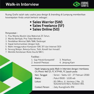 Lowongan Kerja Walk In Interview Terbaru Lowongan Kerja Terbaru 2016 Info Lowongan Kerja Bursa Walk In Interview Ruang Grafis Lowongan Kerja Terbaru