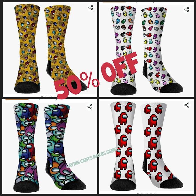 🔥50% OFF PRICE!!  Among Us Gamer Socks