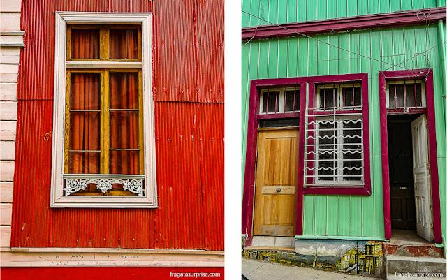 Casas coloridas de Valparaíso, Chile