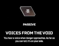 Voices from the Void Wraith Apex Legends Passive Ability