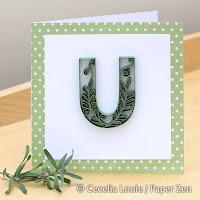 Quilling Letter U Monogram Tutorial Pattern