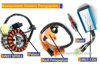 komponen sistem pengapian sepeda motor