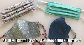 Jika Dicuci Bentuk Masker Tidak Berubah merupakan syarat masker kain bisa untuk cegah penularan virus
