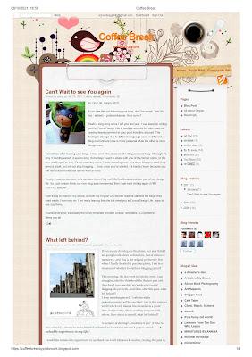 Coffee Break Blog screen shot