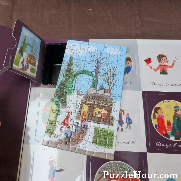 Christmas is coming gibsons jigsaw puzzle advent calendar 2019 review inside box