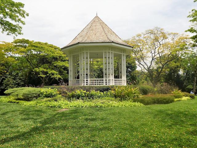 vackra trädgårdar i Singapore