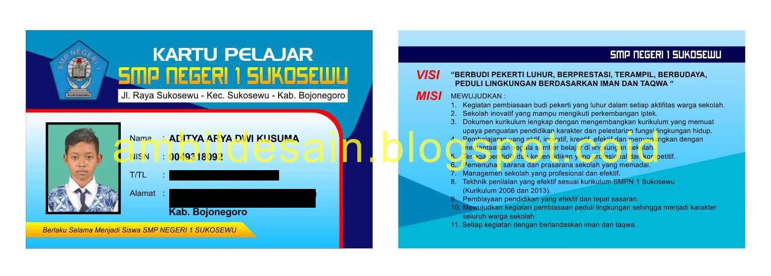 Desain Kartu Pelajar CorelDraw (cdr) - FREE | Monggo...