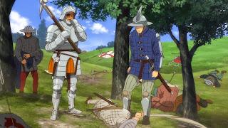 Najemnicy szabrują zmarłych poległych podczas jednej z bitew Wojny stuletniej
