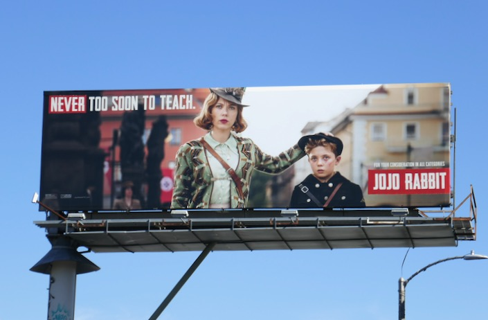 Never too soon to teach Jojo Rabbit FYC billboard