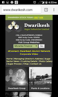 Dwarikesh Sugar