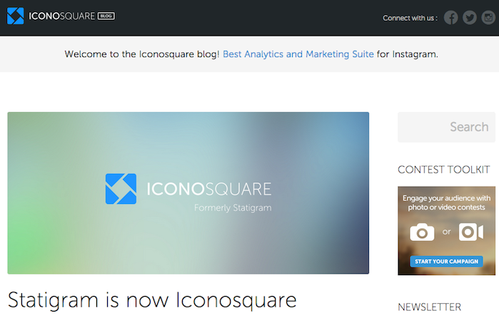 Statigram Blog Changed to Now Iconosquare