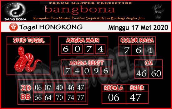 Prediksi Togel Hongkong Minggu 17 Mei 2020 - Bang Bona
