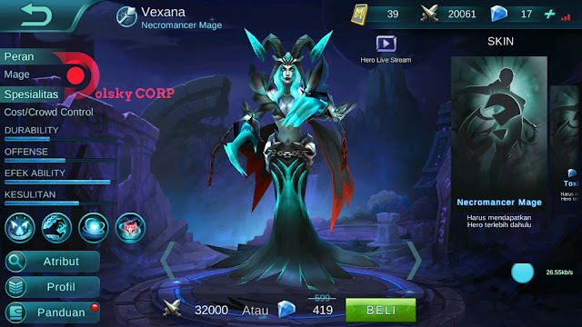 Mobile Legends : Hero Vexana ( Toxic Kiss ) High Damage Build Set up Gear
