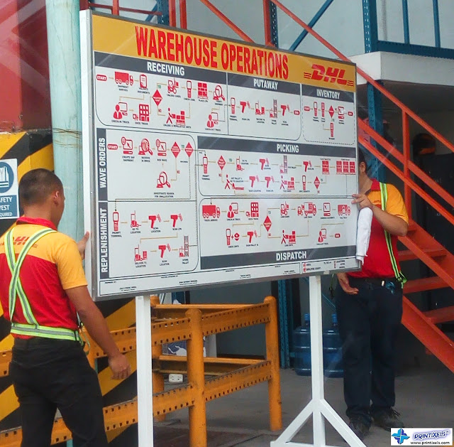 Warehouse Operations Signage - DHL Philippines