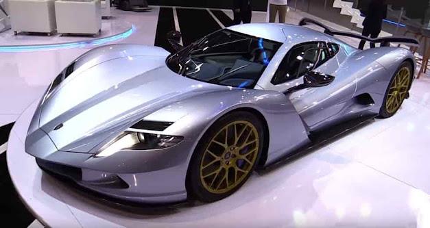 أسرع سيارة كهرابية في العالم في معرض للسيارات في دبي Aspark Owl