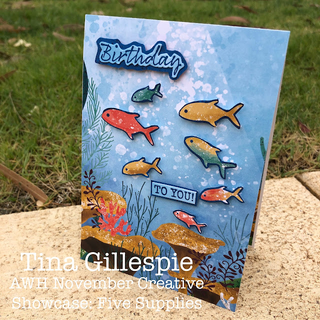 scissorspapercard, Stampin' Up!, Creative Showcase, Whale Of A Time DSP, Seaside Notions