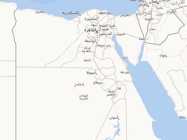 خريطة مصر Egypt Map مجلة رحالة