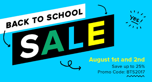 2-Day Back to School Sale - SAVE UP TO 25%
