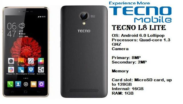 Tecno L8 Lite Specs & Price in Ghana