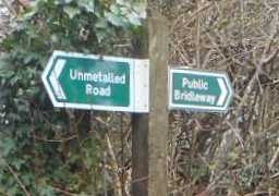 Mid-Devon signpost, January