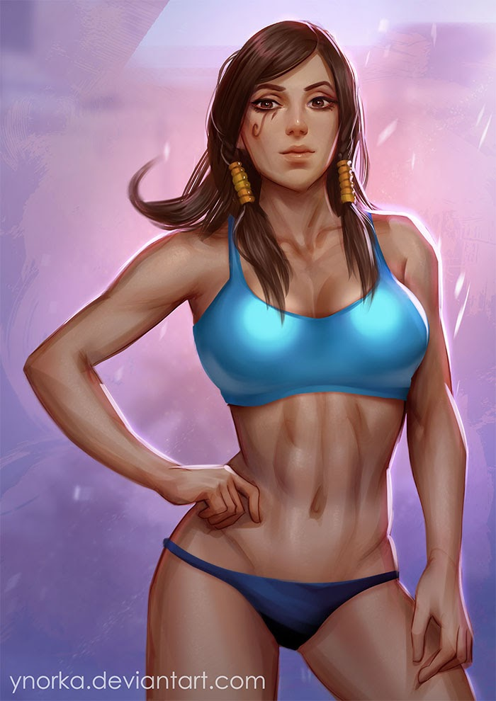 pharah abs sports bra