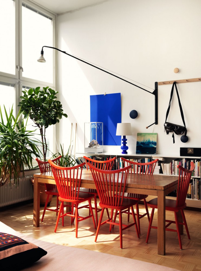 Light and plant filled dining room-love it all!-Jonas Ingerstedt Interiors Photography