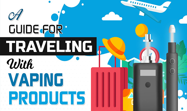 A Guide for Traveling With Vaping Products #infographic