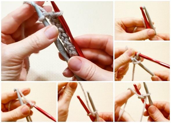 crochet, técnica, 2 ganchos, cordón, patrones crochet