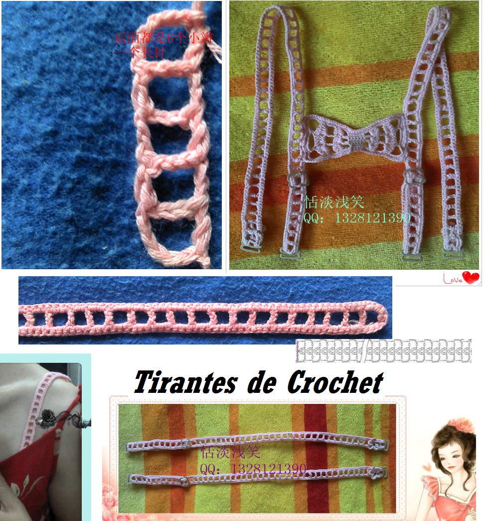 Tirantes de Crochet para Sujetadores