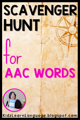 finding words in the AAC  system