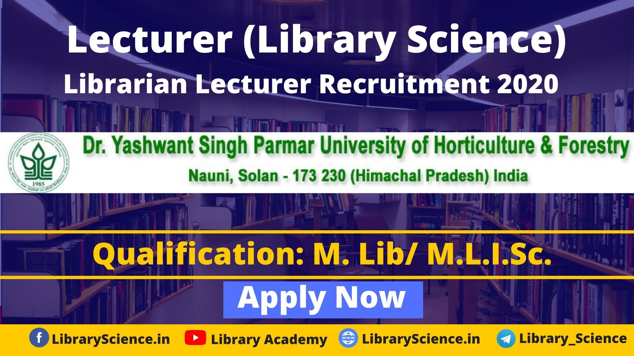 Lecturer (Library Science)