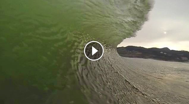 Oier Bartolome early morning at mundaka