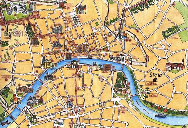 Mapa turístico de Pisa