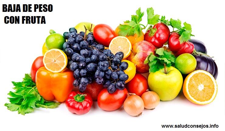 Como bajar de peso rapido con frutas