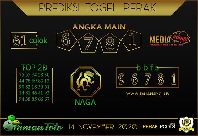 Prediksi Togel PERAK TAMAN TOTO 14 NOVEMBER 2020