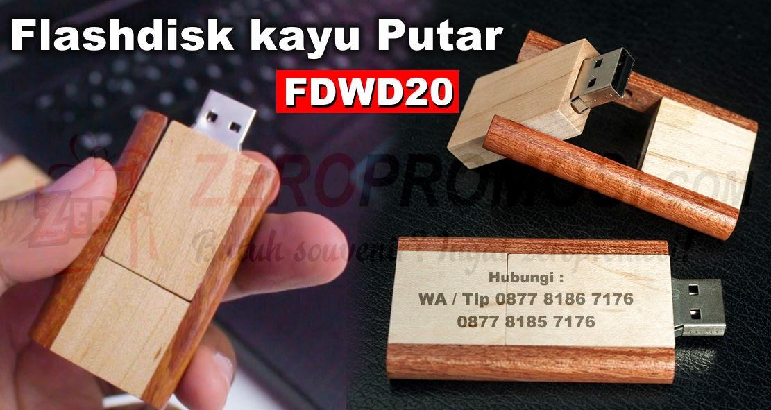 Jual Souvenir USB Wood Dual Tone Color FDWD20 Cetak Logo