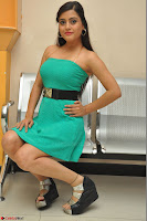 Shipra Gaur in a green tight small dress at Baby movie Audio Launch 20th April 2017 013.JPG
