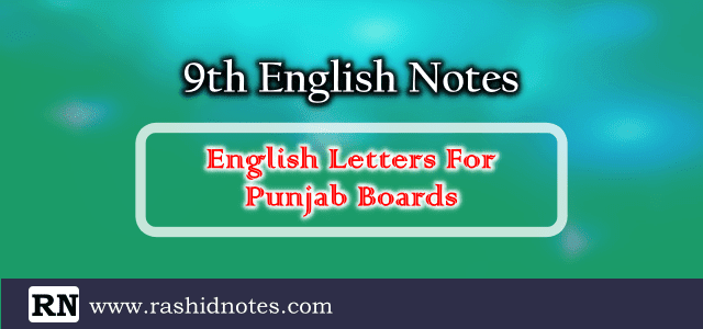 9th Class English Letters Notes